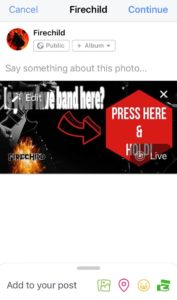 IntoLive App Interactive Facebook Press and Hold Video